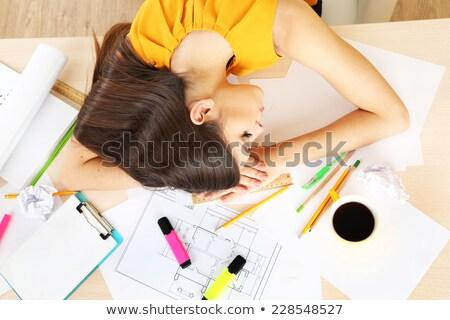 építész alszik állás modell alszik cég Stock fotó © photography33