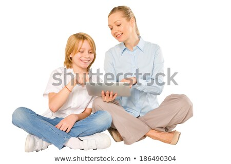 Little blond boy sat on couch Stock photo © photography33