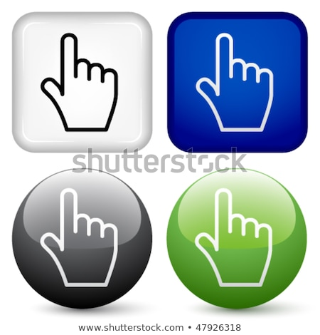 abstract shiny button with hand stock photo © pathakdesigner