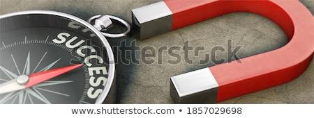 Főcím siker iránytű választás üzlet kéz Stock fotó © devon