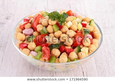 chickpea salad and basil Stock photo © M-studio