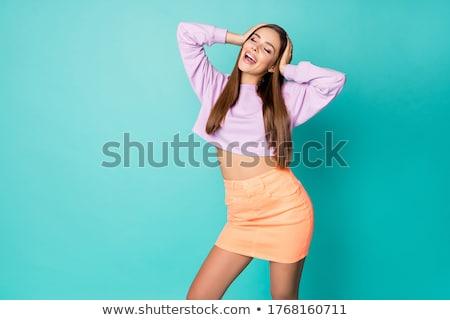 Rövid szoknya klasszikus kép kéjes női Stock fotó © dolgachov