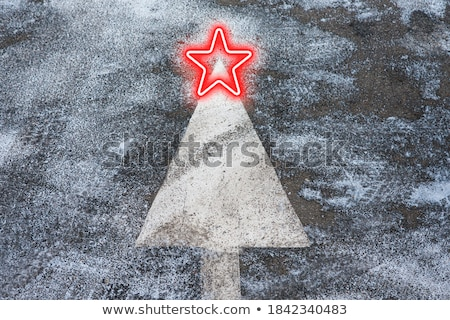 Christmas Tree Road Sign  Stock photo © lorenzodelacosta