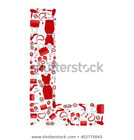 идеальный · форма · красный · белье · женщину - Сток-фото © ssuaphoto