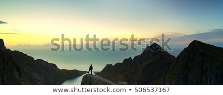 evening view over fjord in norway Stock photo © gewoldi