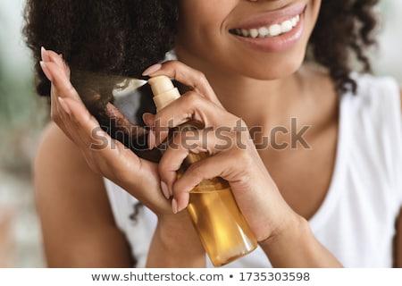 Nő jelentkezik hajlakk haj szexi ecset Stock fotó © photography33