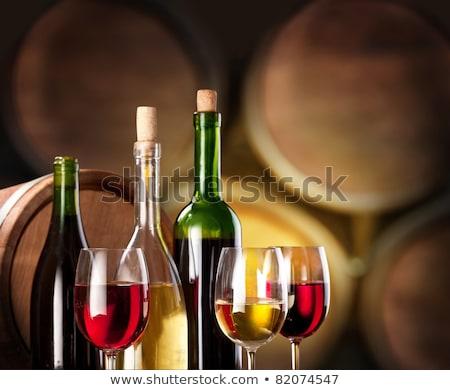 Foto wijnproeven wijn glas tabel fles Stockfoto © photography33