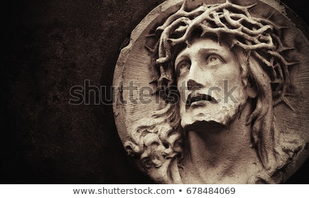 jesus · cristo · mármore · estátua · mãos - foto stock © gordo25