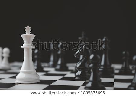 Játék sakk differenciál fókusz copy space fekete Stock fotó © nessokv