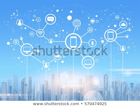 Iletişim ağ düzenlenmiş gruplar pazarlama reklam Stok fotoğraf © Lightsource