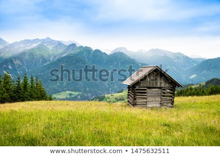 wooden shed in the mountains stock photo © kotenko
