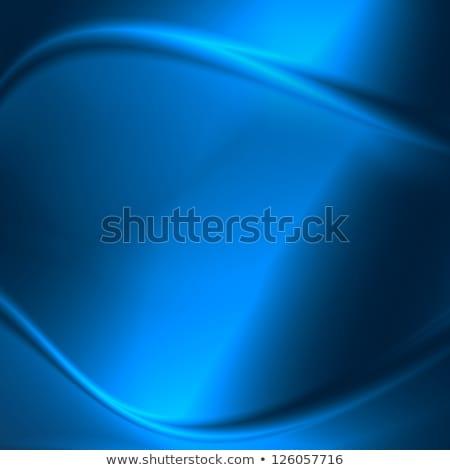 elegancki · niebieski · metaliczny · krzywa · linie · trzy - zdjęcia stock © MONARX3D
