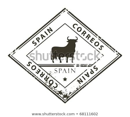 Stock photo: Spanish post stamp