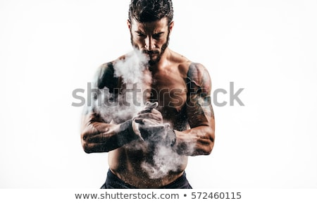 Sporty strong man, Fit muscular young male on gym stock photo © dacasdo