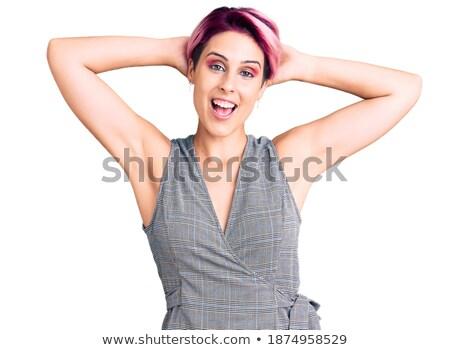 女性 · 着用 · 手 · 後ろ · 戻る - ストックフォト © 805promo