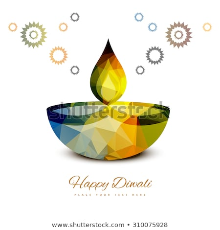 beautiful artistic diwali diya creative background vector stock photo © bharat