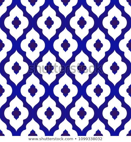 Azul telha padrão cozinha Foto stock © zybr78