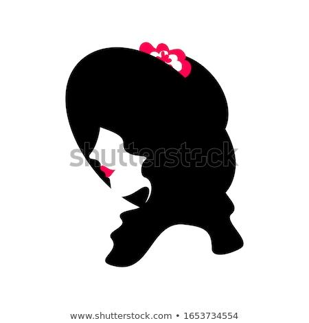 Güzel kız siyah kırmızı güzel bir kadın etek Stok fotoğraf © fotorobs