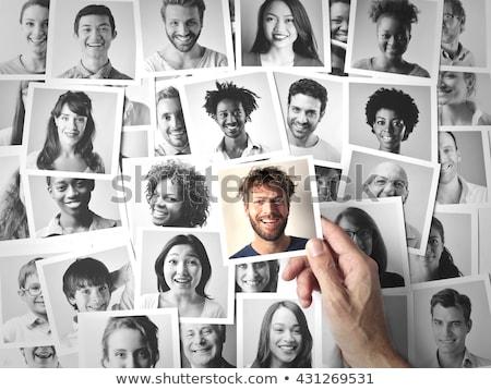 Ausgewählt Person Vektor abstrakten Hintergrund Web Stock foto © burakowski