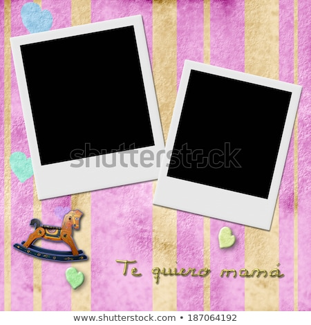 Sentence te quiero mama, love you mom in spanish, two Instant Ph Stock photo © marimorena