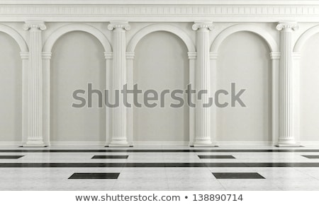 marble wall with columns stock photo © nejron