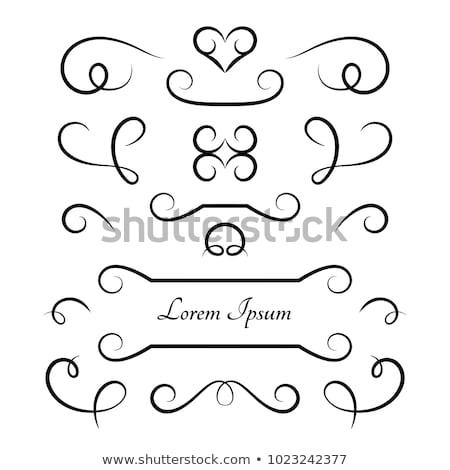Curlicue Frame Stock photo © lenm
