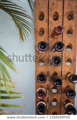 Stock photo: Wine glass on rack