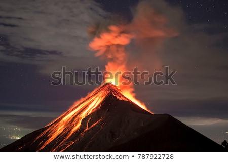 Vulkanisch uitbarsting eiland natuur landschap aarde Stockfoto © andromeda