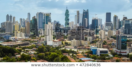 Panorama panama city skyline building sea Stock photo © diego_cervo