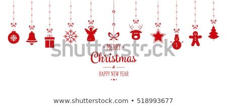 Engel christmas ornament abstract afbeelding ingericht Stockfoto © Soleil