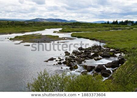 живописный мнение известный реке Исландия воды Сток-фото © 1Tomm