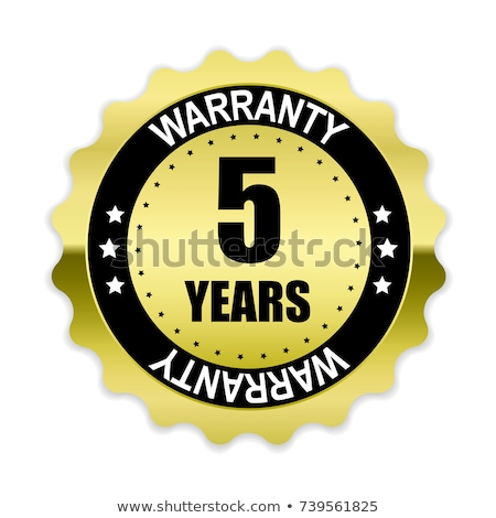 Stok fotoğraf: 5 Years Warranty Purple Vector Icon Button