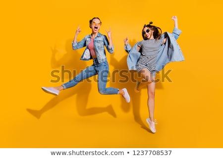 Ad citromsárga nyár buli kártya tánc Stock fotó © boroda