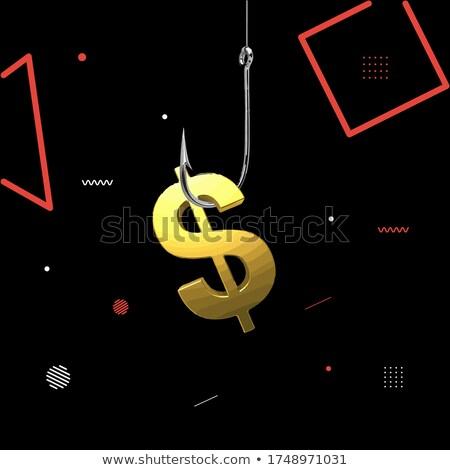 geld · haak · geïsoleerd · witte · zwarte - stockfoto © andreypopov