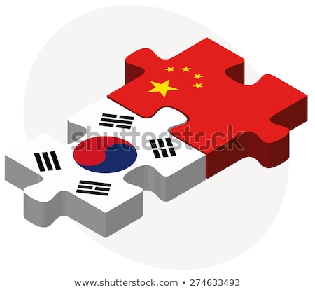South Korea and China Flags in puzzle Stock photo © Istanbul2009