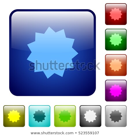 Warranty Guarantee Seal Square Vector Yellow Icon Design Set Stock photo © rizwanali3d