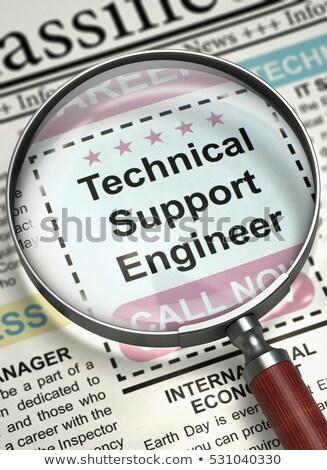Teknik destek mühendis gazete iş arama çalışmak iş Stok fotoğraf © tashatuvango