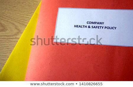 Biztonság irányvonal könyv széf védelem szavak Stock fotó © tang90246
