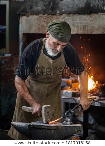 Forgeron façon travaux métal industrie Photo stock © smuki