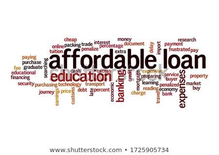 貸款 字 鉛筆 橡皮 紅色 概念 商業照片 © fuzzbones0