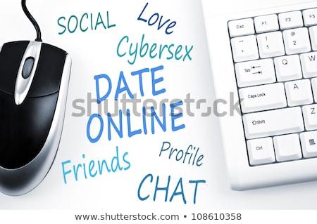 Date Online word scheme and computer keyboard Stock photo © fuzzbones0