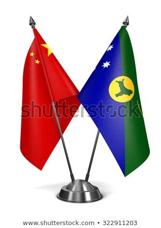 Китай · Австралия · миниатюрный · флагами · изолированный · белый - Сток-фото © tashatuvango