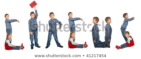 gyerekek · készít · szó · óvoda · kollázs · iskola - stock fotó © paha_l