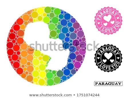 Paragwaj gej Pokaż kraju duma banderą Zdjęcia stock © tony4urban