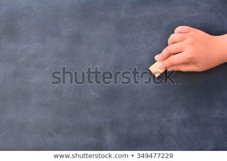 Mão limpeza quadro-negro irreconhecível escolas educação Foto stock © asturianu