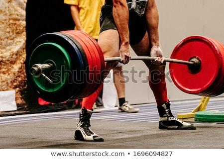 стилизованный спорт фитнес фон подготовки власти Сток-фото © tracer