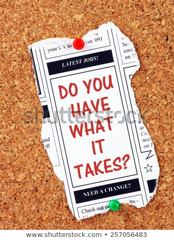 Do you have what it takes question Stock photo © stevanovicigor