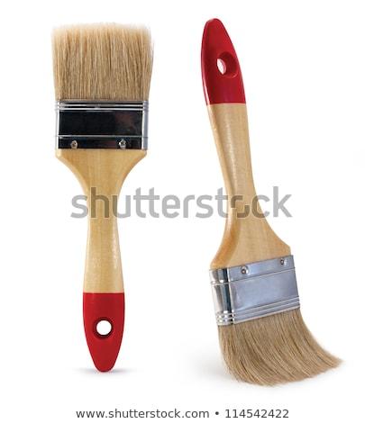 Unused paintbrush and paint Stock photo © viperfzk
