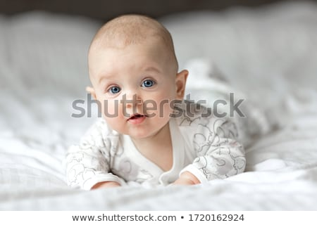 Stockfoto: Aanbiddelijk · baby · jongen · portret · witte