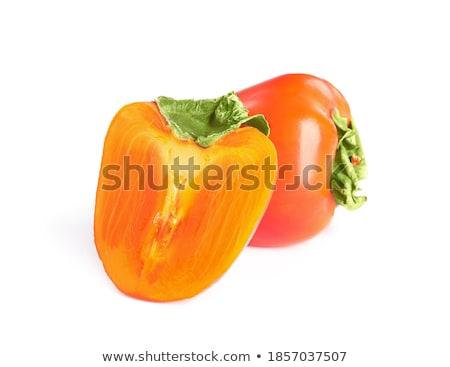 Whole and half persimmon isolated Stock photo © maxsol7